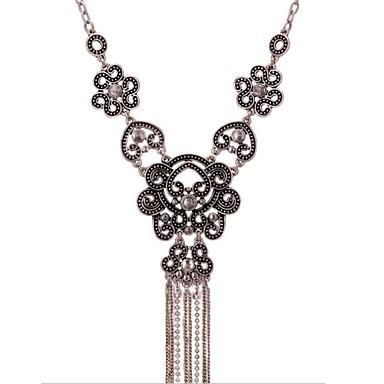 Damen Perle Statement Ketten - Kreuz Erklärung, Europäisch, Modisch Silber Modische Halsketten Schmuck Für Party