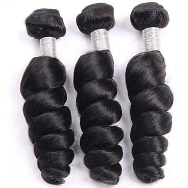 Бразильские волосы Свободные волны Не подвергавшиеся окрашиванию Человека ткет Волосы 3 Связки 8-26дюймовый Ткет человеческих волос