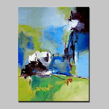Pintados à mão Abstrato / Paisagens Abstratas / PopModerno 1 Painel Tela Pintura a Óleo For Decoração para casa
