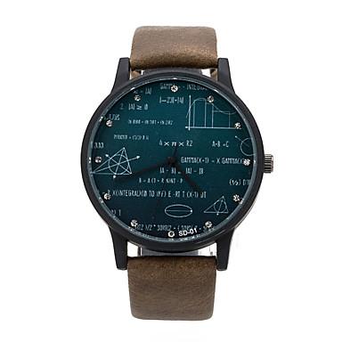 Herrn Quartz Armbanduhr Schlussverkauf Leder Band Uhr mit Wörtern Schwarz Braun Grün