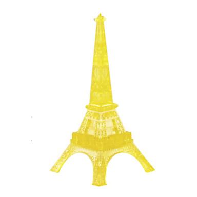 Bausteine Holzpuzzle Kristallpuzzle Turm Berühmte Gebäude Eiffelturm Heimwerken Krystall Eisen ABS Weihnachten Geschenk