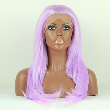 muoti synteettiset peruukit Nyörilliset peruukit 24inch suora violetti lämmönkestävä peruukit naiset