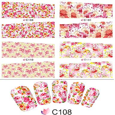 1pcs Nagel-Kunst-Aufkleber Wasser Transfer Aufkleber Blume Zeichentrick lieblich Make-up kosmetische Nagelkunst Design