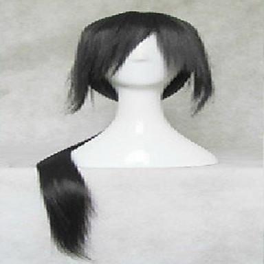 여성 인조 합성 가발 매우 긴 스트레이트 블랙 의상 가발