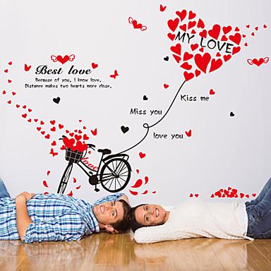 Sanat ja lainaukset Romantiikka Muoti Wall Tarrat Lentokone-seinätarrat Koriste-seinätarrat materiaali Irroitettava Kodinsisustus