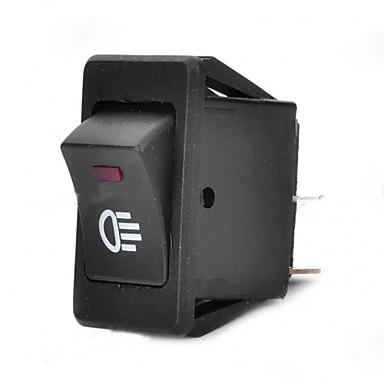 Jtron luzes de nevoeiro do carro interruptor carro interruptor dc 12v / 30a vermelho luz verde