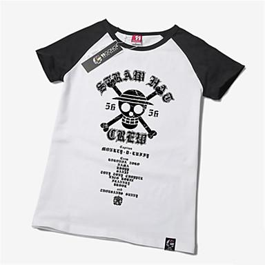 Inspiriert von One Piece Monkey D. Luffy Anime Cosplay Kostüme Cosplay-T-Shirt Druck Kurzarm T-shirt Für Unisex