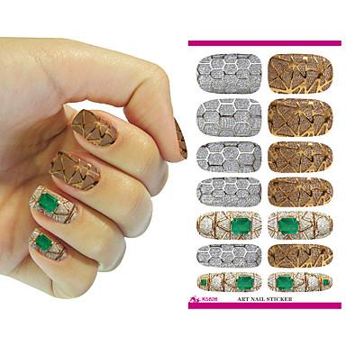 nye nailart klistermærker metallisk juvel fantasy vand overførsel søm tatovering foils decal Minx manicure indretning værktøjer søm wraps