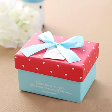 דמוי קוביה נייר כרטיסים מחזיק לטובת עם פפיון קופסאות מתנה