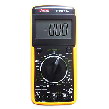 אהרון dt9205a צהוב multimeters דיגיטלית professinal