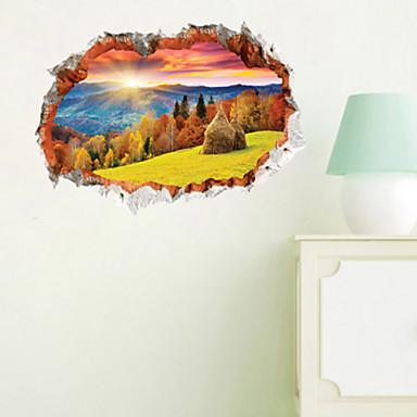Landschaft Stillleben Botanisch Wand-Sticker 3D Wand Sticker Dekorative Wand Sticker, Vinyl Haus Dekoration Wandtattoo Wand Dekoration