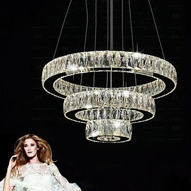 circulaire lustre lumi re dirig e vers le bas plaqu m tal cristal led 110 120v 220 240v. Black Bedroom Furniture Sets. Home Design Ideas