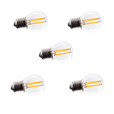 5pcs G45 4W E27 400LM 360 Degree Warm/Cool White Color Edison Filament Light LED Filament Lamp (AC220-240V)