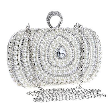 Damen Taschen Polyester Unterarmtasche / Abendtasche / Kosmetik Tasche Imitationsperle / Crystal / Strass Gold / Silber