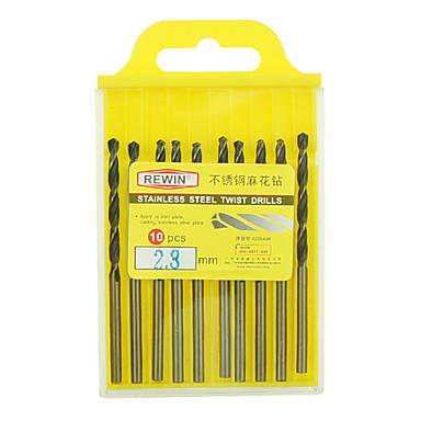 ferramenta inoxidável rewin® cobalto contendo diâmetro broca helicoidal: 2,8 milímetros com 10pcs / box