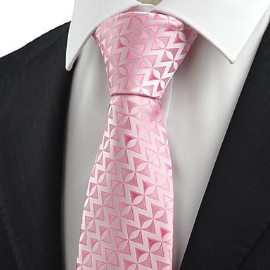 Gravata(Rosa,Poliéster)Estampado