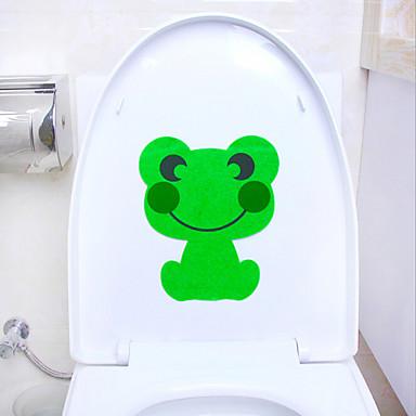 søte dyr toalett klistremerker
