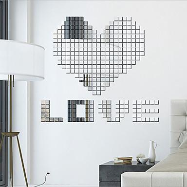 Mode / Fantasie / 3D Wand-Sticker Spiegel Wandsticker,PVC 2x2X0.1