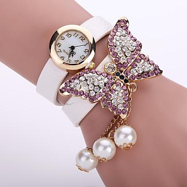 cheap Women's Watches-Women's Ladies Bracelet Watch Diamond Watch Quartz Leather Black / White / Blue Casual Watch Analog Flower Fashion - Green Pink Light Blue