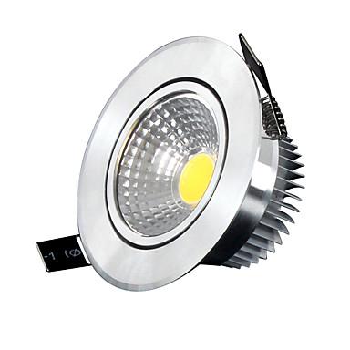 Потолочный светильник Осветительная панель Утапливаемое крепление 5 светодиоды COB Диммируемая Холодный белый 400-500lm 6000-6500K AC