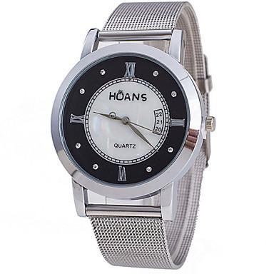 Damen Modeuhr Quartz Armbanduhren für den Alltag Legierung Band Silber