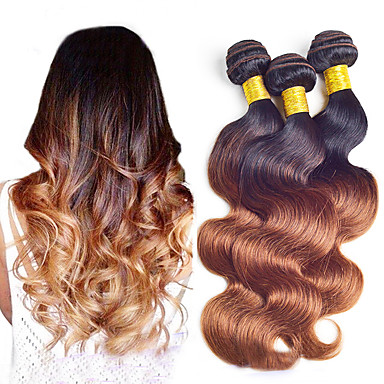 Brasilianisches Haar Wellen Menschliches Haar Webarten Ombre Damen Alltag