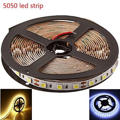 Fleksible LED-lysstriper 60/M LED Varm hvit Hvit Oppladbar DC 12V DC 12 V