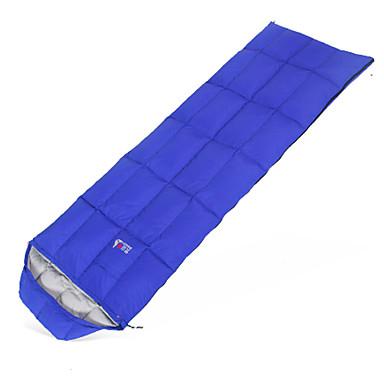 Schlafsack Rechteckiger Schlafsack Einzelbett(150 x 200 cm) # Enten Qualitätsdaune 300g 220X72 Wandern / CampingWasserdicht /