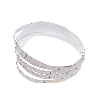 SENCART 1m Flexible LED Light Strips 60 LEDs 3528 SMD Warm White / RGB / White Cuttable / Dimmable / Linkable 12 V / IP65 / Suitable for Vehicles / Self-adhesive