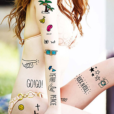 5 Temporäre Farben Non Toxic / Muster / WaterproofDamen / Herren / Erwachsener / Teen Flash-Tattoo Temporary Tattoos