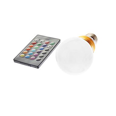 2.5w e26 / e27 led žárovky g60 490-700lm rgb dálkově ovládané ac 85-265 v