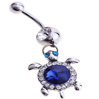 Feminino Bijuteria de Corpo Piercing de Umbigo Prata de Lei imitação de diamante Original Moda Jóias Azul Jóias Diário Casual 1peça