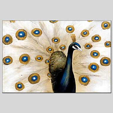 Handgemalte TierModern / Klassisch / Traditionell / Realismus / Ländlich / Europäischer Stil Ein Panel Leinwand Hang-Ölgemälde For Haus