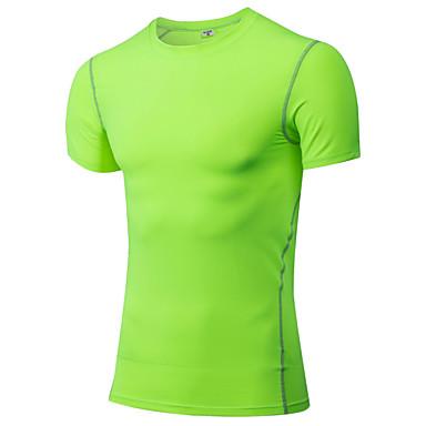 בגדי ריקוד גברים טישרט לריצה שרוולים קצרים ייבוש מהיר תומך זיעה טי שירט צמרות ל כושר גופני מירוץ ריצה פוליאסטר אפור סגול אדום ירוק כחול M