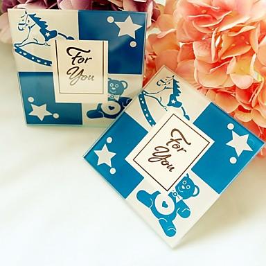 COASTER(Blau,Glas) -Strand Thema / Garten Thema / Asiatisches Thema / Blumen Thema / Schmetterling Thema / Klassisches Thema / Märchen