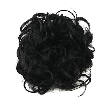 Synthetische Haare Perücken Klassisch Locken Updo Gute Qualität Stufenhaarschnitt Cosplay Perücke Kurz Dunkelbraun Alltag