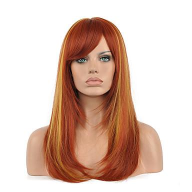qualité supérieure complète synthétique perruques beauté produit capillaire mélange brun blond couleur perruque cosplay.