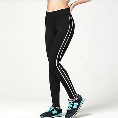 בגדי ריקוד נשים מכנסי ריצה נושם רך חלק דחיסה חותלות תחתיות כושר גופני ריצה שחור S M L XL