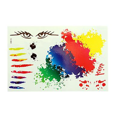 -Tattoo Aufkleber Airbrush-Tattoo Schablonen- fürDamen Erwachsener--Papier-Stück -