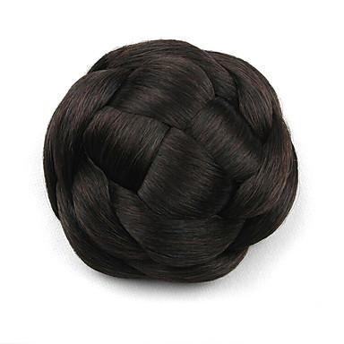 excêntricas encaracolados chignons perucas pretas europa noiva cabelo humano sem capa g660205 2/33