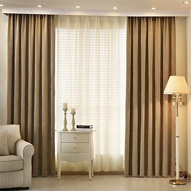 zwei Panele Modern / Designer Streifen Wie im Bild Wohnzimmer Polyester Verdunklungsvorhänge Vorhänge