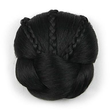 excêntricas encaracolados chignons preto europa noiva cabelo humano sem tampa perucas dh104 2