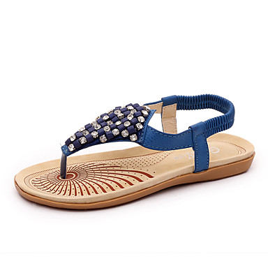 Flip-flop papucsok / Mary Jane-Lapos-Női cipő-Szandál-Szabadidős / Alkalmi-PU-Kék / Fehér