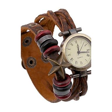 Mulheres Relógio de Moda Bracele Relógio Digital Couro Banda Boêmio Marrom