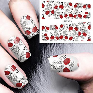 1 Pcs Adesivo Per Trasferimento D'acqua Manicure Manicure Pedicure Di Tendenza Quotidiano #05051263