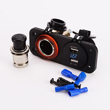 iztoss Dual Zigarettenanzünder 12v usb 4.2a Adapter digital volmeter für für Motorrad-Auto-Boots-Marine carvan