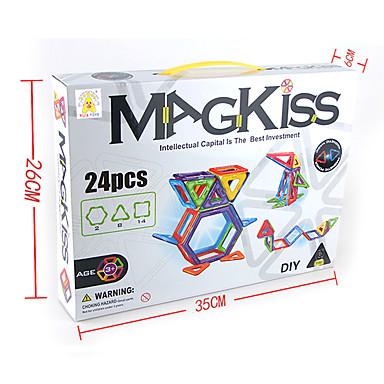 צעצועים כלליים / צעצועים מגנטיים / אבני בניין / צעצוע פאזל / צעצוע חינוכי לקבלת מתנה אבני בניין ABS / פלסטיק כל חום צעצועים