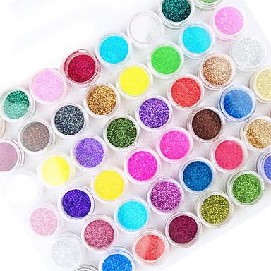 45pcs mix de culoare unghii praf acrilic decorare unghii