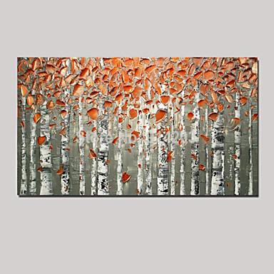 Pintura a Óleo Pintados à mão - Paisagem / Vida Imóvel / Fantasia Pastoril / Estilo Europeu Tela de pintura