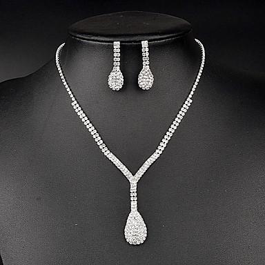 Damen Kristall Strass Brautkleidung Strass Halsketten Ohrringe Für Hochzeit Party Besondere Anlässe Geburtstag Hochzeitsgeschenke